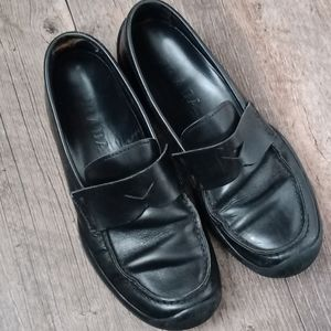 Prada leather driving loafers